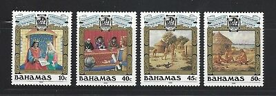 Bahamas 1988 Sc#640-3 Discovery of America, 500th Anniv.  MNH Set $10.15