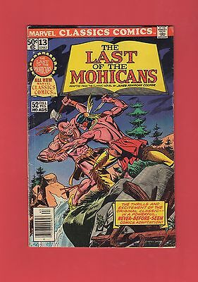 Last of the Mohicans Marvel Classics Comics #13 Gil Kane Cover 52 Pgs All New