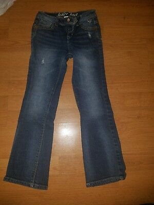 Girl's Distressed Justice Jeans Size 8