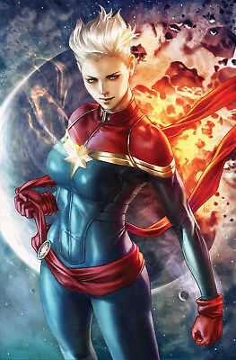 LIFE OF CAPTAIN MARVEL #1 ARTGERM Variant Marvel Comics NM Presale 7/16/2018