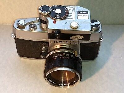 Rare  Sears Tower 37a Mamiya Prismat NP Exakta Mount SLR w/lens & Clip On Meter