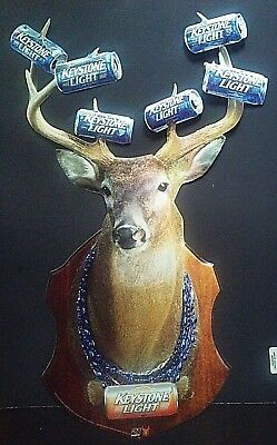 2005 Keystone Light Beer Aluminum Sign, Full Color, Deer and Antlers, Coors