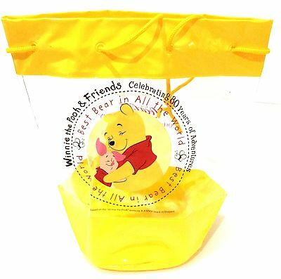 Japan 2006 Coca Cola 120th & Winnie the Pooh's 80th Anniversary PVC String Bag