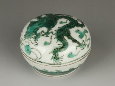 Chinese Exquisite Handmade Dragon pattern  porcelain box