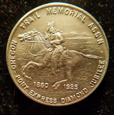 1860-1935 PONY EXPRESS DIAMOND JUBILEE - Oregon Trail Memorial Ass'n ☆Mint☆