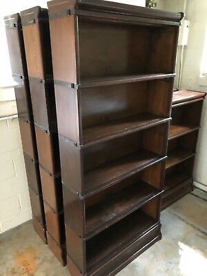 SIX Globe Wernicke Stacking Barrister Bookcases Base c11 198 grade