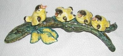 Vintage Stangl Pottery - 4 Gold Finches on Branch