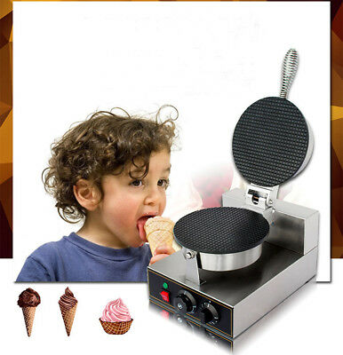 110V Electric Commercial Regular Ice Cream Waffle Cone Maker Baker Machine