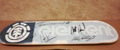 Autographed ELEMENT Skateboard Deck signed by Vallely, Wray, Rupp, Townsend