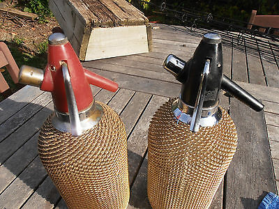 Vintage retro/deco gold mesh 60s-70s soda siphon/syphon-bar - 2 of 2 - Black