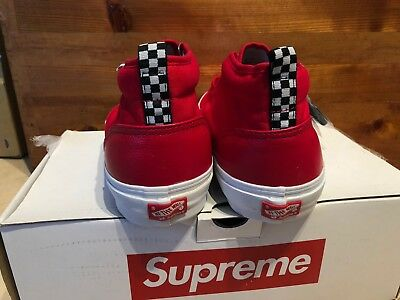 f2ee6b8d80 2011 Supreme NYC x Vans - Chukka Pebbled Leather Red White size 10.5
