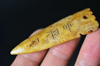Chinese Han dynasty old jade cicada amulet pendant   E71