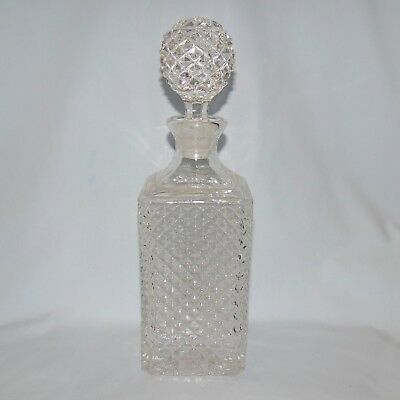 HEAVY HOBNAIL CRYSTAL whisky or scotch DECANTER maybe suit tantalus