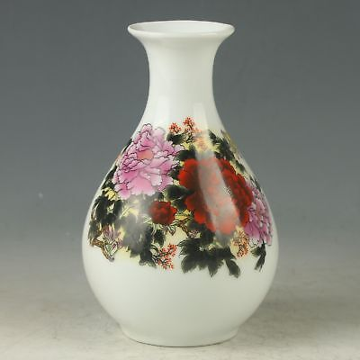 Chinese Porcelain Hand-Painted Flower Vase Mark As The Qianlong Period AN039