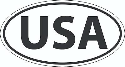 USA - Country Code Oval Bumper Sticker Decal 5 x 3 in - Buy 2 Get 1 Free