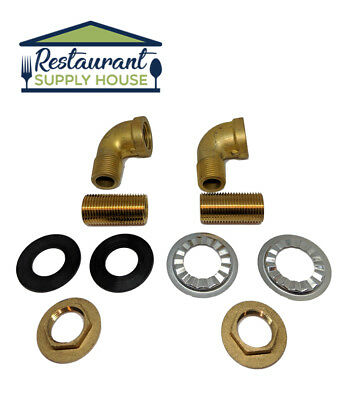 Commercial Sink Wall Mount Faucet Mounting Kit 1/2""
