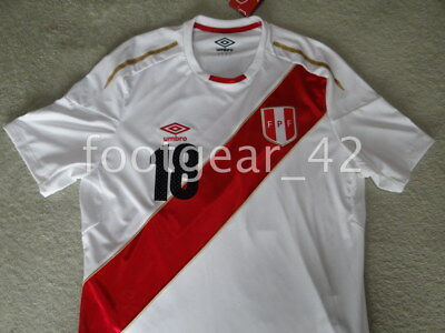 966a0473f8f New Official Umbro Peru Andre Carrillo World Cup Russia 2018 Soccer Jersey  Shirt