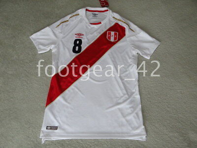 Official Umbro Peru Christian Cueva  8 World Cup Russia 2018 Soccer Jersey  Shirt 2caf30b68