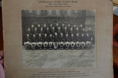 Signed Photo of the Australian Rugby Union Team 1947-8 Wallabies