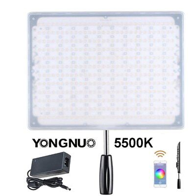 Yongnuo YN600 RGB 5500K SMD LED Colour Ring Selfie Video Light + AC Adapter US