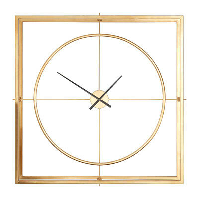 Trinity Metal Wall Clock Gold Metal Square Home Décor Modern Style