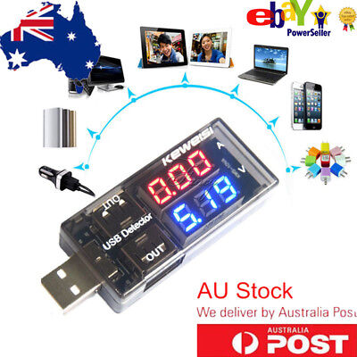 LED USB Current Voltage Detector Charger Battery Voltmeter Multimeter Australia