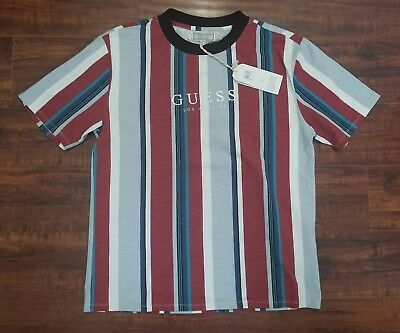 where can i buy high quality amazing selection GUESS ORIGINALS SAYER Striped Tee Size M Medium Limited ...