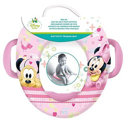 Disney Baby – Réducteur Mini WC avec anses Minnie Baby point pot rose