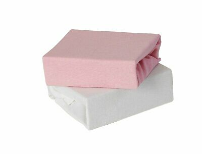 Baby Elegance Draps pour Berceaux Jersey Moses Fitted Sheets 2 Pack Rose