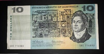 1966 Coombs-Wilson Commonwealth of Australia $10 dollar note, VF