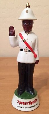 RARE Nassau Royale Policeman Porcelain Decanter/Liqueur Bottle c1965