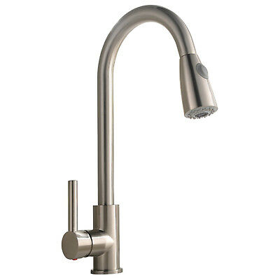 Best Commercial Stainless Steel Single Handle Pull Down Sprayer Kitchen Faucet,