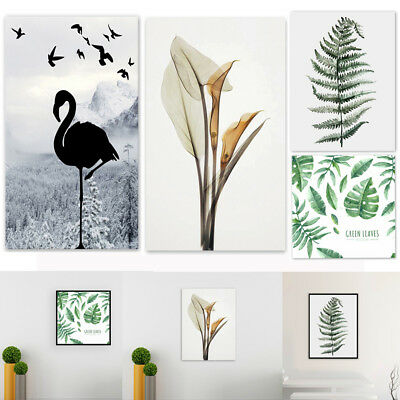 Green Plants Canvas Art Print Poster Flower Leaf Painting Wall Pictures Decor