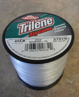 Berkley Trilene Big Game Mono Fishing Line, Clear - 40lb - 370yds