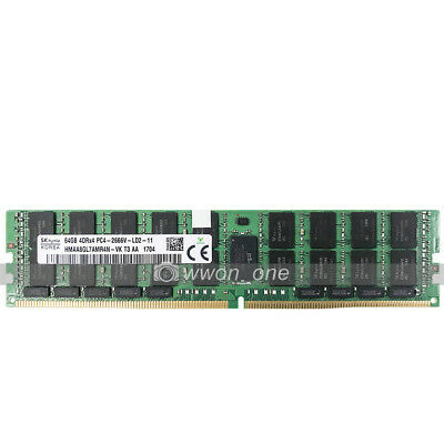 Hynix 64GB 4DRx4 PC4-2666V-L DDR4 2666Mhz 288Pin ECC Load Reduced LRDIMM Memory