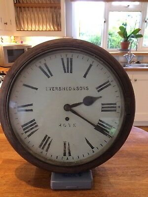 Antique Fusee wall clock, supplied by Evershed and Sons of Hove, Brighton.
