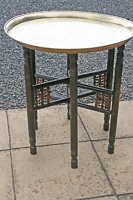 Indian  Brass Topped Folding Table