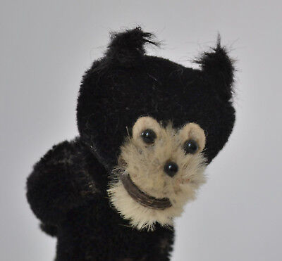 Felix the cat antique black mohair character toy doll, circa. 1920's