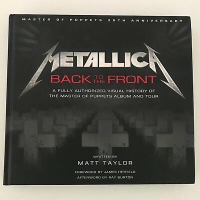 Metallica, Back To The Front, Libro / Book, Master Of Puppets