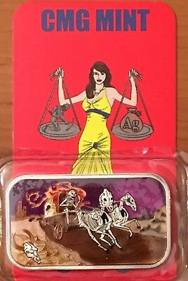 THE LAST STAND - SE - Special-Edition CMG Mint 1oz Silver Enameled Art Bar
