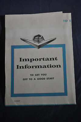 Dodge 'Important Information To Get You Off to a New Start'
