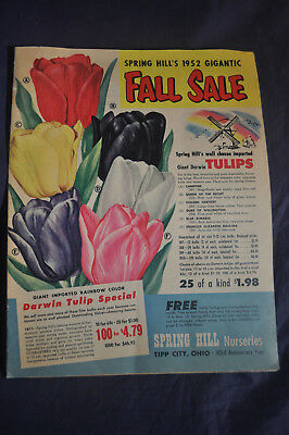 1952 Spring Hill Nursery *TULIPS*PLANTS*BERRIES* Catalog