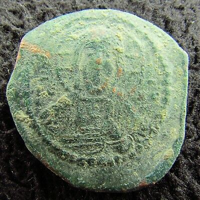 Byzantine Bronze Anonymous Follis  circa 1000 AD (1322+)