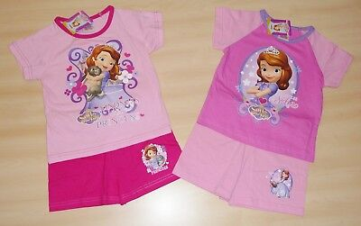 2 PAIRS DISNEY SOFIA THE FIRST ASSORTED SHORT PYJAMAS AGES 18-24 up to 4-5 YEARS
