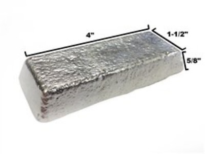 RotoMetals Lead Free Pewter - Alloy R98 Pewter Casting Ingot Tin 98%, Bismuth