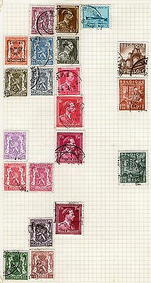 DMB - Belgium -  Stamps on Album page from Old Collection   -  MH/Used