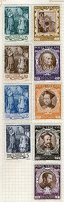 DMB Stamps - Vatican -  Stamps on Album page from Old Collection   -  MH