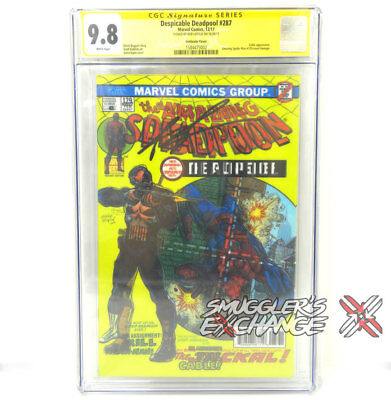 Despicable Deadpool 287 The Amazing Spider-Man 129 Signed Rob Liefeld Lenticular