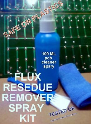 ROSIN  PINE and Any Other SOLDERING FLUX RESIDUE CLEANER SPRAY KIT (pcb cleaner)