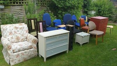 Used furniture job lot of chairs, tables, chest of draws, etc for sale